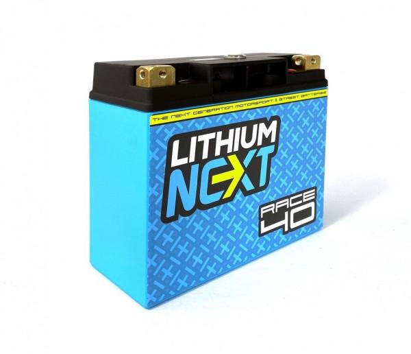 LithiumNEXT RACE40 Starterbatterie Pbeq 40 Ah