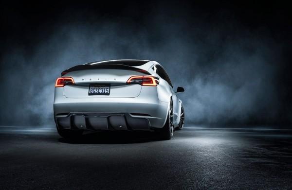 Jeggon Racing Vorsteiner Style Carbon Diffusor Tesla Model 3