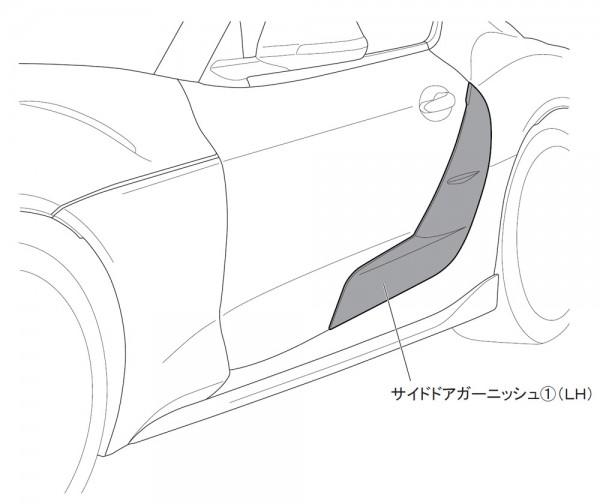 Jeggon Racing TRD Style Carbon Türblenden Toyota Supra A90 MK5